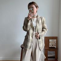 《予約販売》spring check jacket_no0076