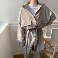 【NOKCHA  original】soft over jacket/light  khaki