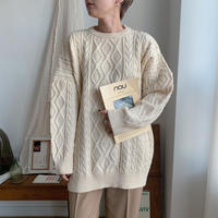 ✳︎予約販売✳︎loose cable knit/2colors_nt0219
