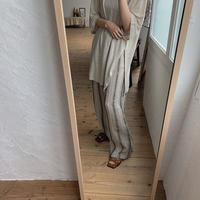 《予約販売》stripe linen pants _np0206