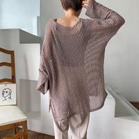 《予約販売》summer waffle knit/2colors_nt0488