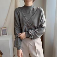 ✳︎予約販売✳︎2piece neck tops/2colors_nt0142