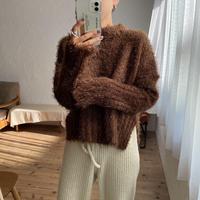 《予約販売》shaggy unbalance knit/2colors_nt0807