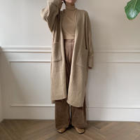 ✳︎予約販売✳︎rib knit gown/2colors_no0022
