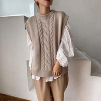 《予約販売》mannish cable knit vest _nt0612
