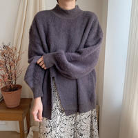 ✳︎予約販売✳︎slit fake angora knit_nt0157