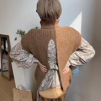 ✳︎予約販売✳︎back slit knit vest/2colors_nt0159