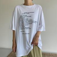 《予約販売》unisex recipe tee/3colors_nt1025