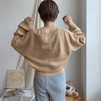 《予約販売》one shoulder tank & crop knit set/2colors_nt0340