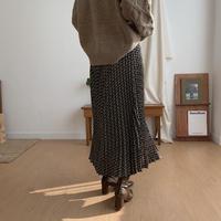 ✳︎予約販売✳︎unique pattern pleats skirt_ns0029