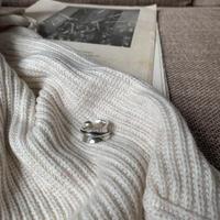 《予約販売》silver925 slanted big ring_na0215