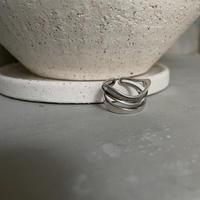《予約販売》silver925 double wave ring_na0309