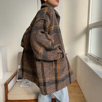 【nokcha original】2way quilting liner check coat_no0124