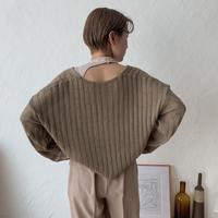 《予約販売》s/s minimal knit/2colors_nt0363
