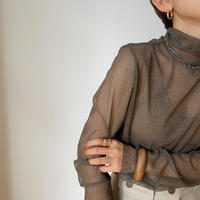《予約販売》mosaic sheer tops/2colors_nt0843