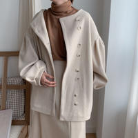 ✳︎予約販売✳︎puff middle coat/Ivory_no0031