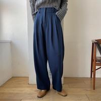 【nokcha original】waist detail wide pants/blue navy_np0314