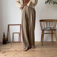 《予約販売》tuck naturally pants _np0204
