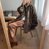 《予約販売》 leopard warm shirt jk/2colors_no0108