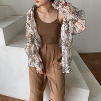 《予約販売》floral sheer blouse/2colors_nt0450