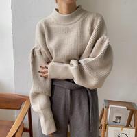 《予約販売》puff sleeve melange knit/2colors_nt0717