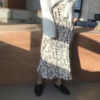 フラワーロングスカート/2colors