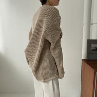 《予約販売》unisex melange knit/2colors_nt0830