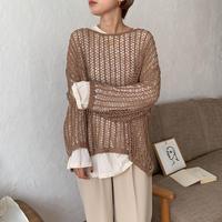 《予約販売》lowgage loose knit/2colors_nt0555