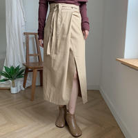 wrap slit skirt/2colors_ns0011