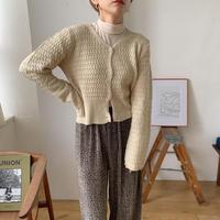 《予約販売》bokashi pattern knit cardigan_nt0657