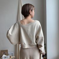 《予約販売》décolleté minimal knit_nt0306