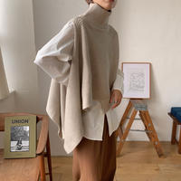 《予約販売》2set unique knit cape/2colors_nt0654