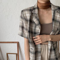 《予約販売》s/s check jacket/2colors_no0089