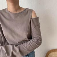 《予約販売》shoulder tee/3colors_nt0368