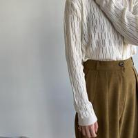 《予約販売》sheer lady knit/2colors_nt1088