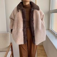 《予約販売》shaggy bi-color jacket_no0131