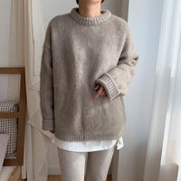 ✳︎予約販売✳︎wool blend big knit_nt0155