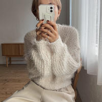 《予約販売》low gage lady knit/2colors_nt0731
