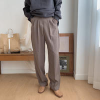 ✳︎予約販売✳︎two tuck slacks pants/2colors_np0093