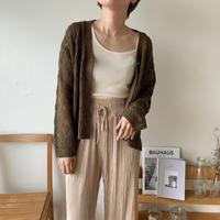 《予約販売》 pattern sheer knit cardigan/2 colors_nt0381