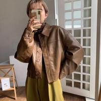 《予約販売》eco leather minimal over jacket/2colors_nt0679
