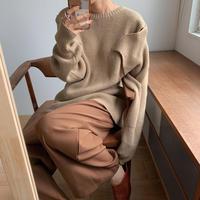 《予約販売》unique shoulder knit/2colors_nt0641