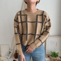 ✳︎予約販売✳︎minimal check knit_nt0239