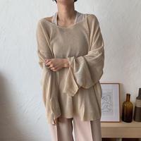 《予約販売》unique summer knit/2colors_nt0365