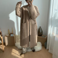 ✳︎予約販売✳︎angora long knit coat/2colors_no0059