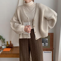 ✳︎予約販売✳︎loose cable knit cardigan/2colors_nt0250