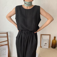 《予約販売》linen lady setup/black_nt0435