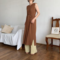 《予約販売》2way pleats knit long ops/2colors_nd0049