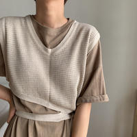【nokcha original】thermal knit bustier/oatmeal_nt0456