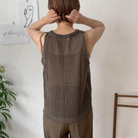 《予約販売》minimal mesh knit /2colors_nt0412